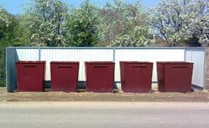 мусорные контейнеры размещение
