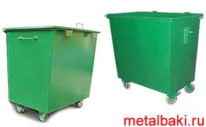 мусорные контейнеры на колесах