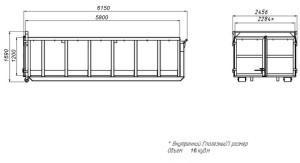 размеры контейнера 16 м3 для мультилифта