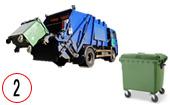 мусоровоз с задней загрузкой контейнера