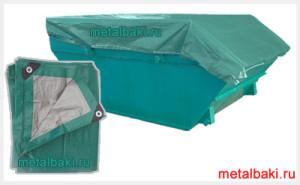 Тент-полог на бункер для мусоровоза с портальным погрузчиком