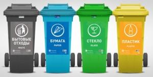 сбор мусора в контейнеры