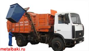 Мусоровоз КО-440 с боковой загрузкой контейнерами