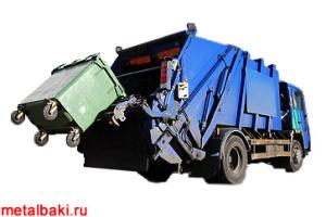 Мусоровоз с задней загрузкой мусора из контейнеров