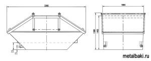 размеры бункера с крышкой