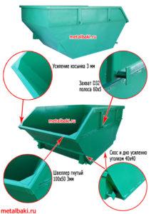 УСИЛЕННЫЙ бункер 8 м3 по цене СТАНДАРТНОГО с доставкой
